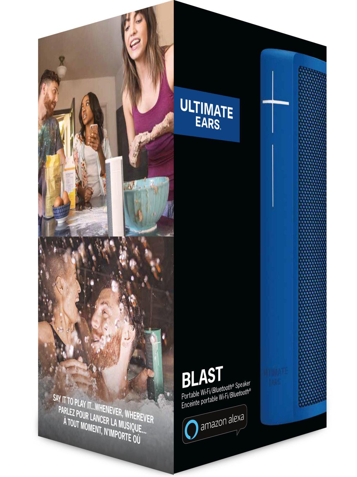Ultimate Ears BLAST Wireless Portable Speaker with Amazon Alexa